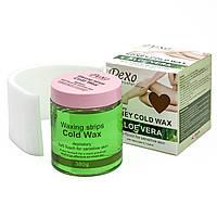 Холодний віск для депіляції Wokali Pexo Depilatory Honey Cold Wax (Алое віра)