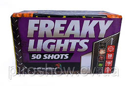 Салют FREAKY LIGHTS 50 выстрелов 15 калибр | Фейерверк GP305 Maxsem