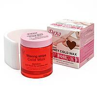 Холодний віск для депіляції Wokali Pexo Depilatory Honey Cold Wax rose