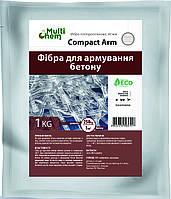 Фибра полипропиленовая для бетона 40мм СompactArm 1 кг, фото 1