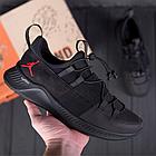 Чоловічі шкіряні кросівки Jordan чорні, фото 4
