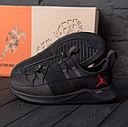 Чоловічі шкіряні кросівки Jordan чорні, фото 2