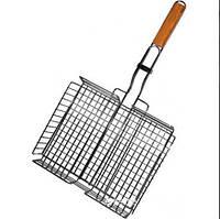 Решетка для гриля, сетка для мангала  из нержавеющей стали, с ручкой(30x30x60 см) Rainberg JY-12B