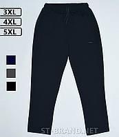 Большие размеры 3ХL-5ХL (54-58). Мужские спортивные штаны ST-BRAND / Трикотаж двунитка - темно-синие