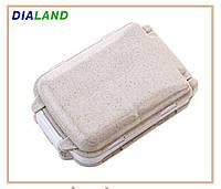 Таблетница PILL BOX (органайзер для таблеток) бежевая, фото 1