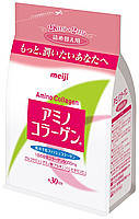 Пищевая добавка амино-коллаген 214 г (на 30 дней) сменная упаковка MEIJI Amino Collagen