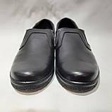 Мужские кожаные туфли р. 46,47,48 большие размеры прошитые Черные, фото 2
