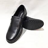 Мужские кожаные туфли р. 46,47,48 большие размеры прошитые Черные, фото 3