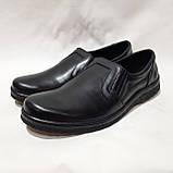 Мужские кожаные туфли р. 46,47,48 большие размеры прошитые Черные, фото 4
