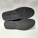 Мужские кожаные туфли р. 46,47,48 большие размеры прошитые Черные, фото 7