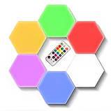 Модульна настінна шестигранна комбінована лампа 6шт.   Кольоровий настінний світильник з пультом, фото 3