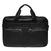 Чоловіча шкіряна сумка Borsa Leather k11120a-black