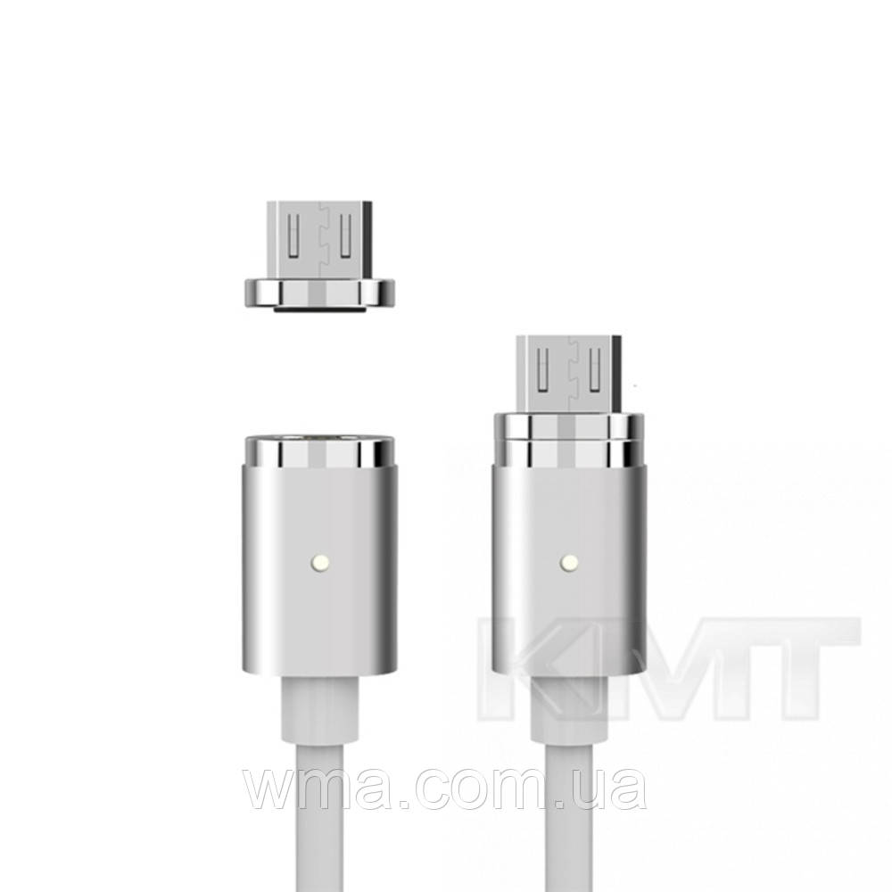 Metal Magnetic Micro USB Cable (1m) — White