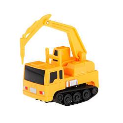 Индуктивная строительная машинка Inductive Car Буровая установка Желтый 1000080, КОД: 1892223
