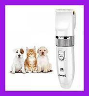 Профессиональная аккумуляторная машинка для стрижки животных котов и собак Gemei GM-634 Ceramic Blade груммер