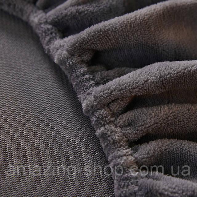Бархатная простынь на резинке 150*180+25см Натяжная простыня на матрас или диван высокого качества
