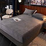 Бархатная простынь на резинке 150*180+25см Натяжная простыня на матрас или диван высокого качества, фото 5
