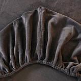 Бархатная простынь на резинке 150*180+25см Натяжная простыня на матрас или диван высокого качества, фото 6