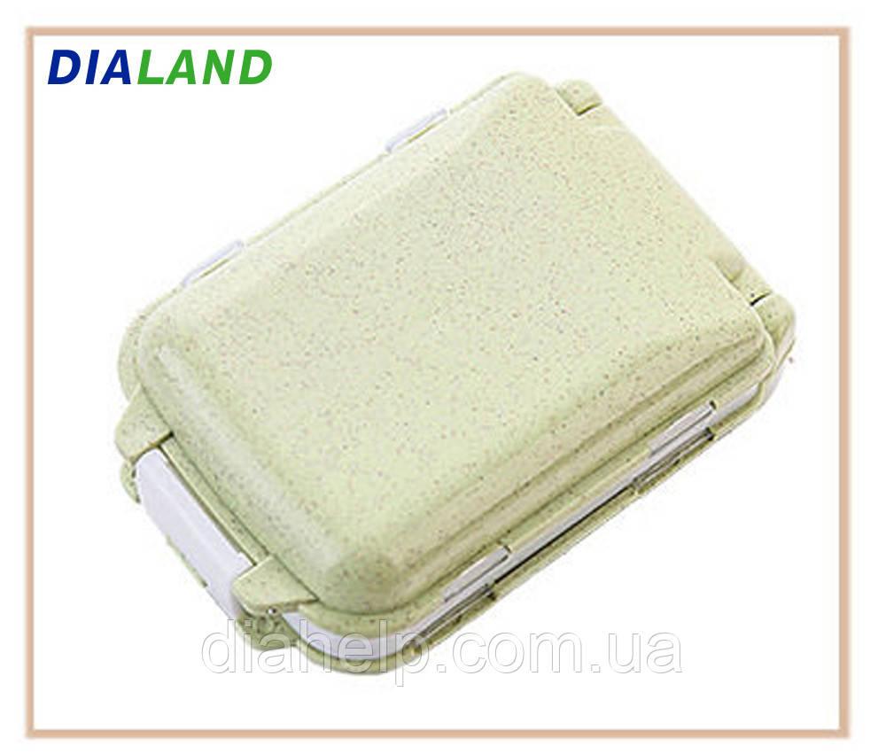 Таблетниця PILL BOX (органайзер для таблеток) оливкова
