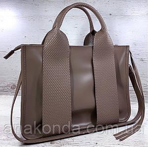 684-1-XL Натуральная кожа Сумка женская кофейная кожаная бежевая женская сумка из натуральной кожи А4 формат