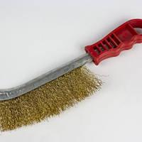 Щетка по металлу с пластиковой ручкой