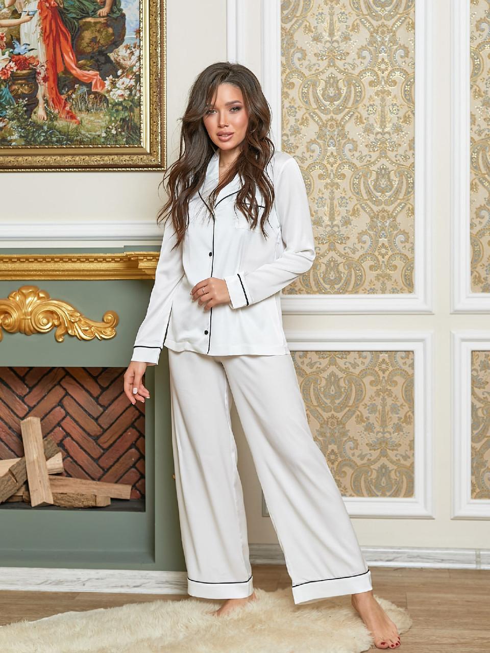 Жіноча красива піжама комплект домашний шовковий 44 46 48 50 розміри є кольори