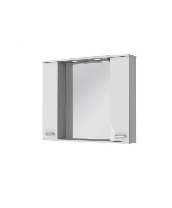 Шкафчик з дзеркалом Франческа ФШНЗ3-100, біле