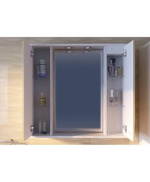 Шкафчик з дзеркалом Франческа ФШНЗ3-100, біле, фото 2