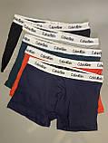 Трусы мужские боксеры Calvin Klein 5 шт набор без подарочной упаковки трусы чоловічі труси боксери, фото 3