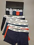 Трусы мужские боксеры Calvin Klein 5 шт набор без подарочной упаковки трусы чоловічі труси боксери, фото 4
