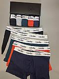 Трусы мужские боксеры Calvin Klein 5 шт набор без подарочной упаковки трусы чоловічі труси боксери, фото 2
