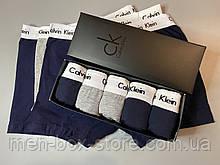 Трусы мужские боксеры Calvin Klein 5 шт набор без подарочной упаковки трусы чоловічі труси боксери 6