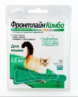 Merial Frontline Combo - капли на холку для кошек  от блох и клещей