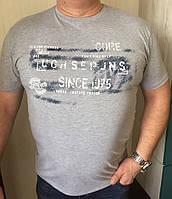 Классическая мужская футболка в больших размерах