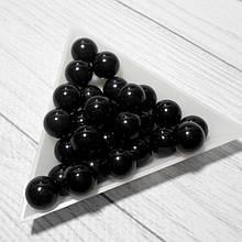 Лидит (черная яшма)  , шарики 10 мм, 25 шт.