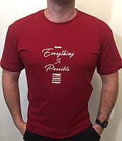 Классическая футболка мужская с надписью