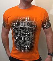 Яркая мужская футболка с надписями