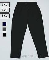 Мужские спортивные штаны больших размеров 3ХL-5ХL / ST-BRAND / Трикотаж двунитка - черные