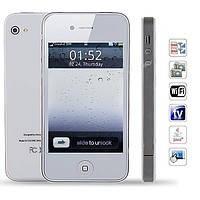 Лучший мобильный телефон White IPhone 4 F8+TV+2sim Стильный дизайн!Айфон 4 китайский , фото 1