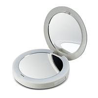 Компактное зеркало Pretty&Powerful с функцией Powerbank. Обычное и 2-кратное увеличение, LED-подсветка,