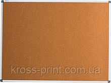 Доска пробковая  90х120см в алюминевой рамке настенная ВМ 0018