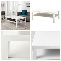 Журнальный столик IKEA LACK 118x78 см белый ИКЕА ЛАКК прямоугольный кофейный стол