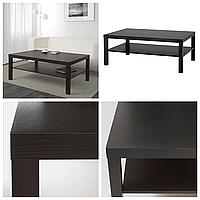 Журнальный столик IKEA LACK 118x78 см чёрно-коричневый ИКЕА ЛАКК прямоугольный кофейный стол