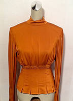Блуза женская Balizza длинный рукав горчица, фото 1