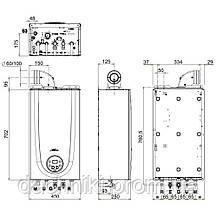 Котел газовый Sime Brava One 25 BF 24 кВт двухконтурный, фото 2