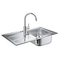 Набір кухонна мийка Grohe EX Sink 31570SD0 K400 Concetto змішувач 32663001