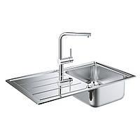 Набір кухонна мийка Grohe EX Sink 31573SD0 K500 і змішувач Minta 32168000