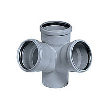 Крестовина PPR канализационная Ostendorf HT-Safe 110, 67° (двухплоскостная)