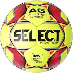 Мяч футбольный SELECT Flash Turf IMS (013) желт/красн р. 5