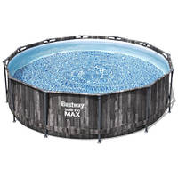 Bestway Каркасный бассейн Bestway Wood Style 5614Z (427х107 см) с картриджным фильтром, тентом и лестницей